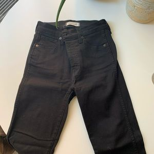 Madwell 10 inch high rise skinny jeans black